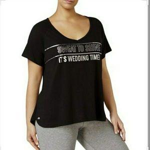 NWT*Plus Women's Workout Bridesmaid Short Sleeve